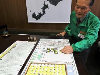 下松市防災士協会が独自に開発した防災ゲームを市に寄贈 コロナ禍下を想定