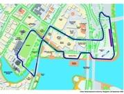 F1シンガポールGPのコース正式発表-61周で反時計回り