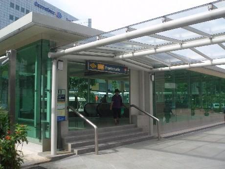 4月17日に開業したMRT環状線のプロムナード駅