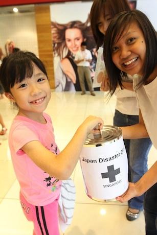 国内で募金活動が展開され、多くの思いが寄せられた