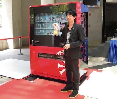 国内3カ所に設置される次世代型デジタル自動販売機