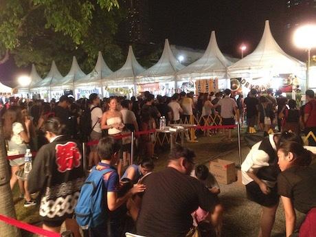 「Super Japan Matsuri by WAttention」で行われた祭イベントは大勢の客でにぎわいを見せた