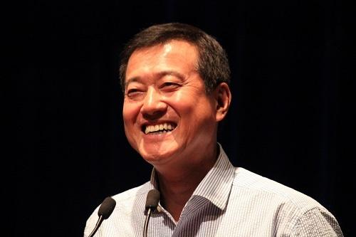 「東海大学と私の野球半生」をテーマに講演を行った原辰徳さん (写真提供:東海大学同窓会シンガポール支部望星会)