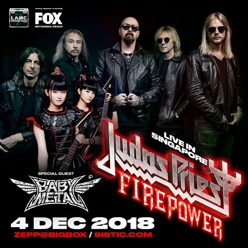 「JUDAS PRIEST Firepower World Tour 2018」with BABYMETAL