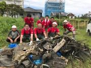 御宿町商工会青年部が河川敷清掃 夏シーズンに向け