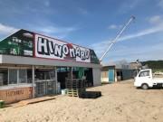 御宿海岸で「海の家」設営始まる 10店舗が出店
