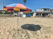 御宿の海の家「みなと」、新サービス「砂浴デトックス」始める