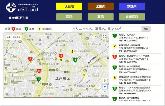 災害時情報共有システム「eST-aid」