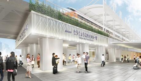 リニューアル後の「とうきょうスカイツリー駅」のイメージ。提供:東武鉄道(株)