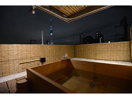 ひのき風呂のある屋上からの全景