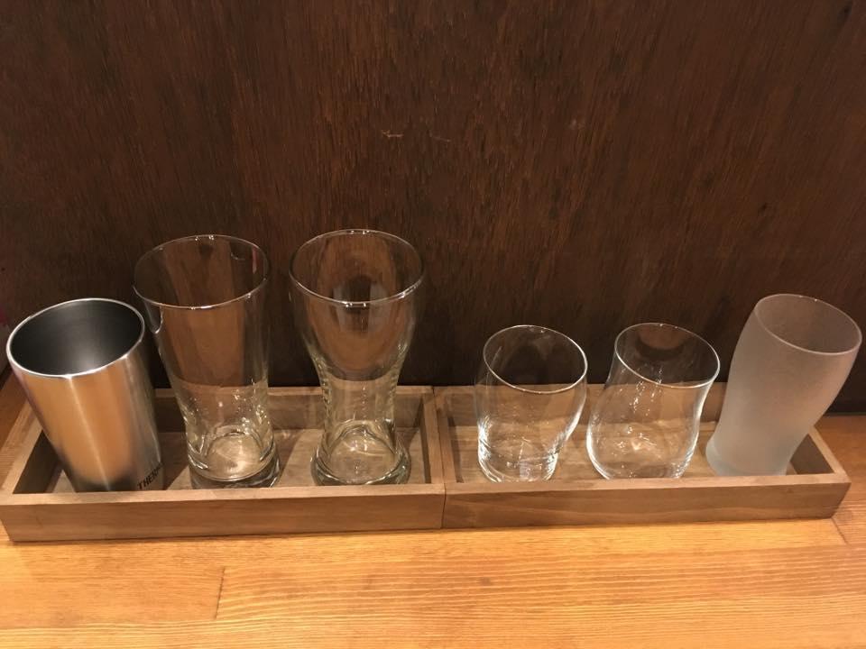 ビールに合わせてグラスを選べる