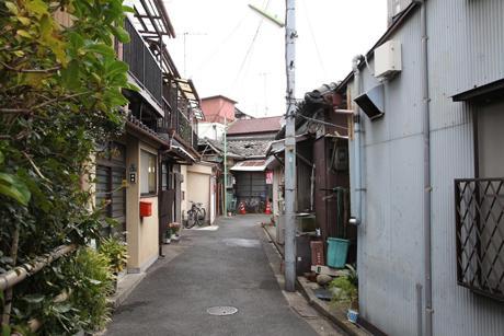 会場となる京島の風景