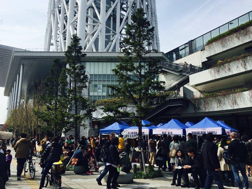 区内の日本酒を扱う飲食店が集合する