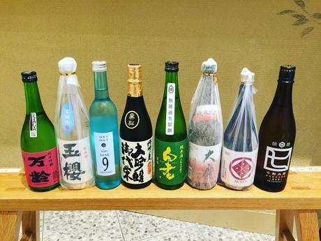日本酒のラインアップ(一部)
