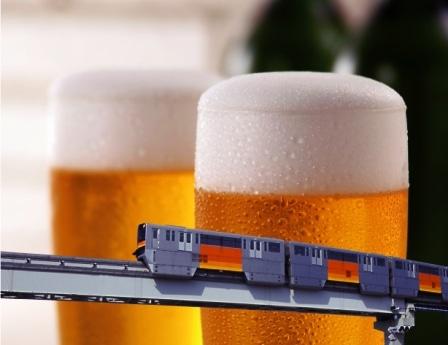 走行中、ビールが飲み放題