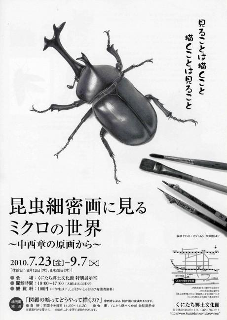 中西章さんの描く昆虫細密画には、手描きならではのリアル感がある。