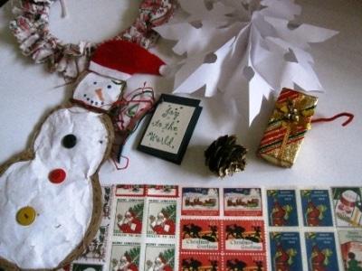 福生では本場アメリカのクリスマス飾りを作ることができる。