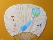 エキュート立川で「涼」を感じる企画-うど和紙を使ったうちわ作りも