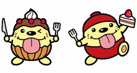 東大和市のグルメイベントのイメージキャラクター「うまべぇ」のスイーツバージョン