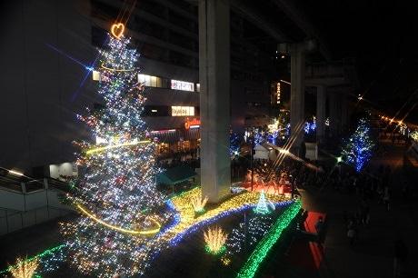 立川駅北口サンサンロードの「Tchikawa燦燦 Illuminataion」昨年の様子