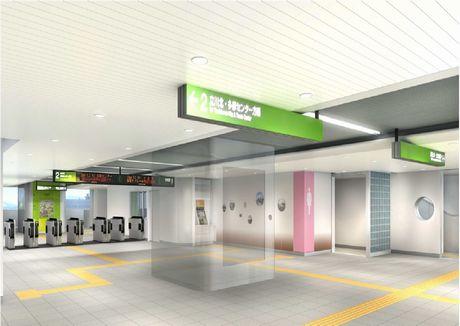 立飛駅新設改札口の完成イメージ
