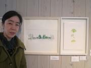 立川で「葉画家」群馬直美さん個展 「街路樹」テーマに