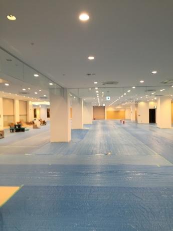 工事が進む立川高島屋6階フロアの様子