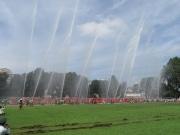 昭和記念公園に北多摩17市の消防団が集結 パレードや一斉放水も