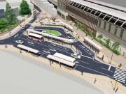 国立駅北口で広場等の整備工事 自動車動線の整備による一通化など