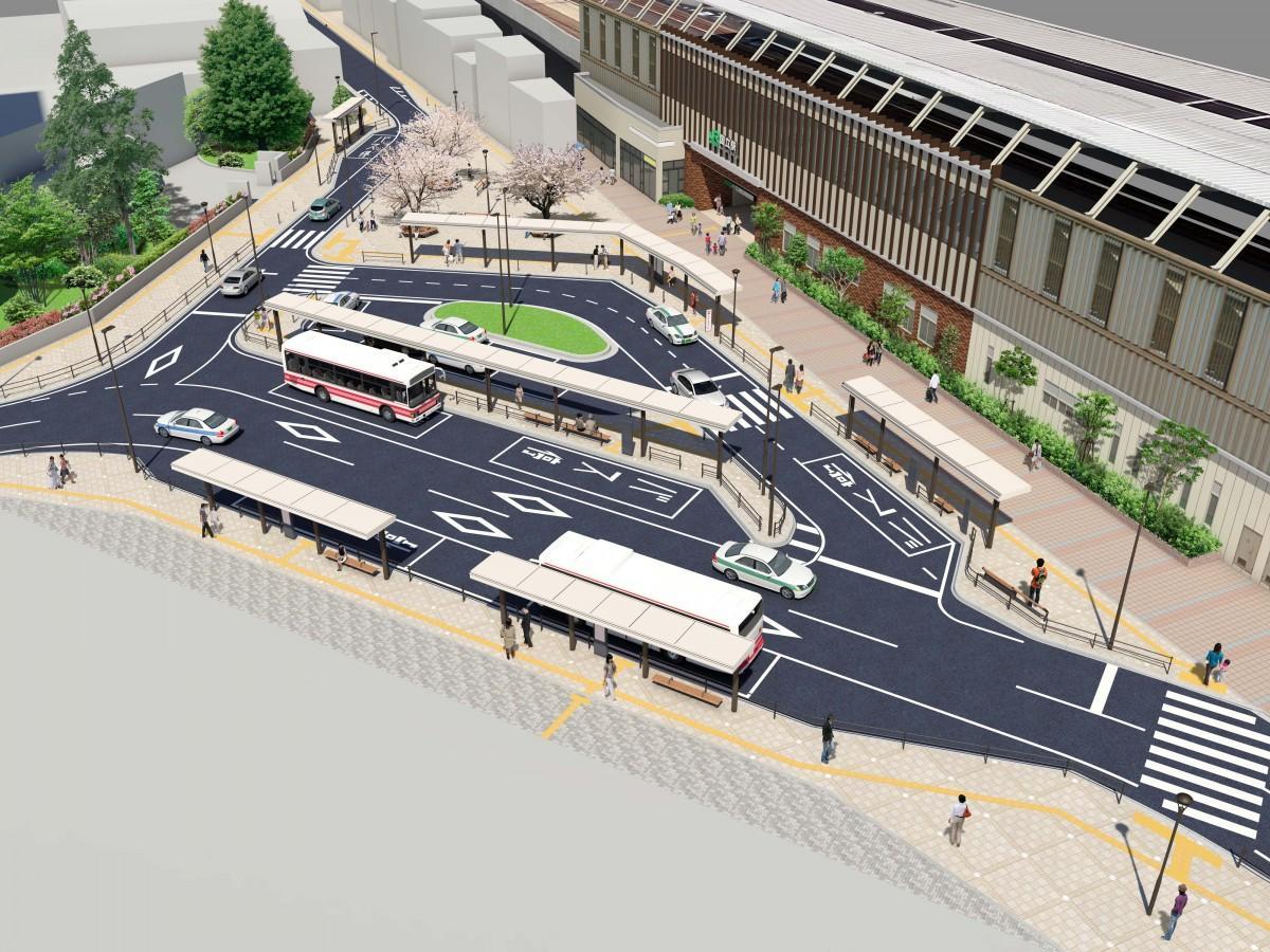 整備後の国立駅北口広場のイメージ