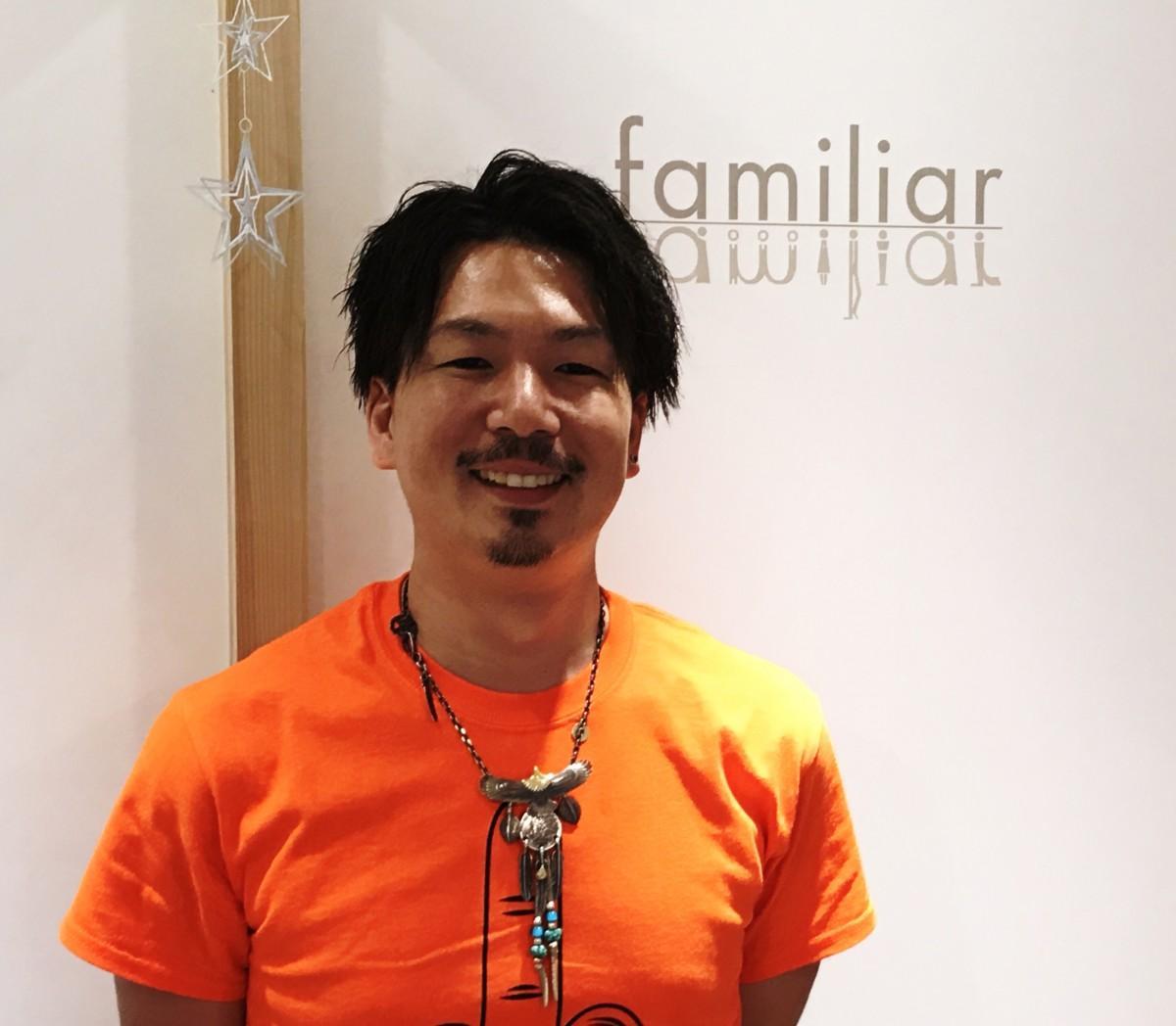 ヘアドネーションに取り組む美容室「familiar」代表の老田賢司さん