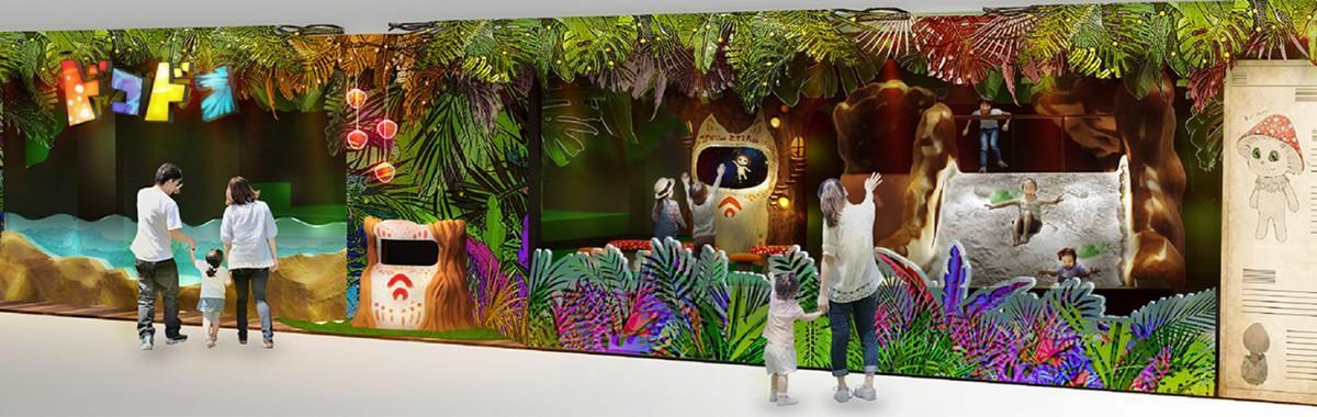 「屋内冒険の島 ドコドコ」施設イメージ