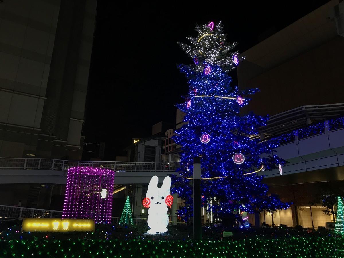 立川駅北口の「Tachikawa燦燦(さんさん)Illumination」