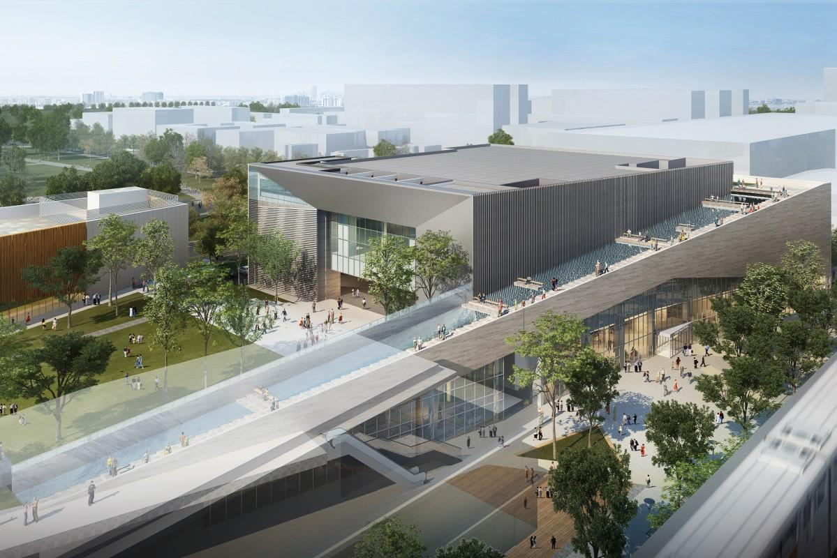 新街区に建設予定のホール「(仮称)TACHIKAWA STAGE GARDEN」イメージ
