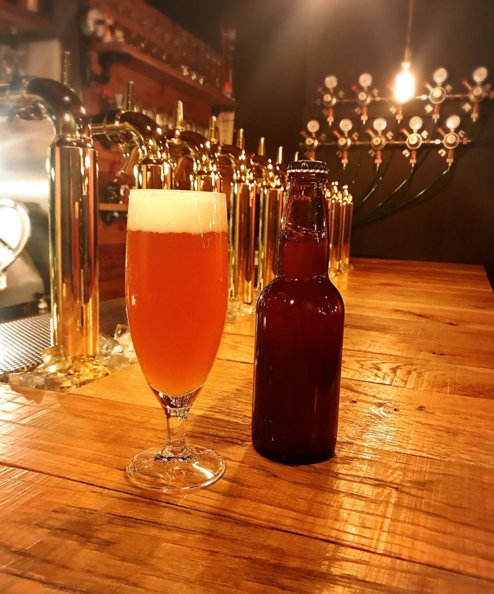 「Craft Beer&Wine U-!」のオリジナルビール「Aromatic Sun San IPA(アロマティック太陽燦々IPA)」