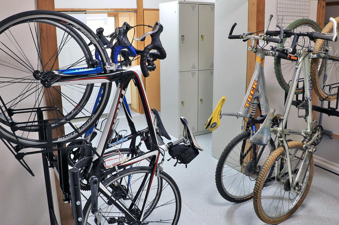 室内のため大切な愛車を安心して駐輪できる