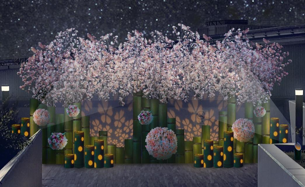 桜をテーマにした「SAKURAイルミネーション」イメージ