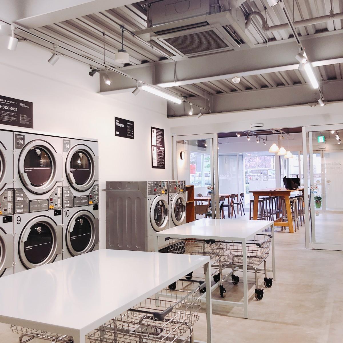 「Baluko Laundry Place 小金井」ランドリーエリア