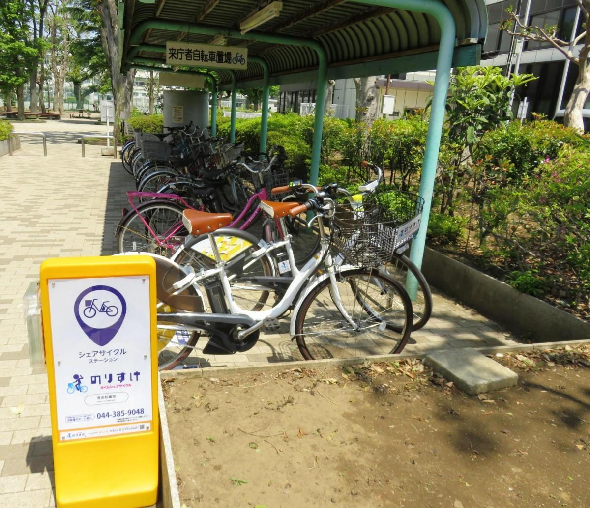 国立市役所ののりすけ駐輪ステーション 提供元:国立市