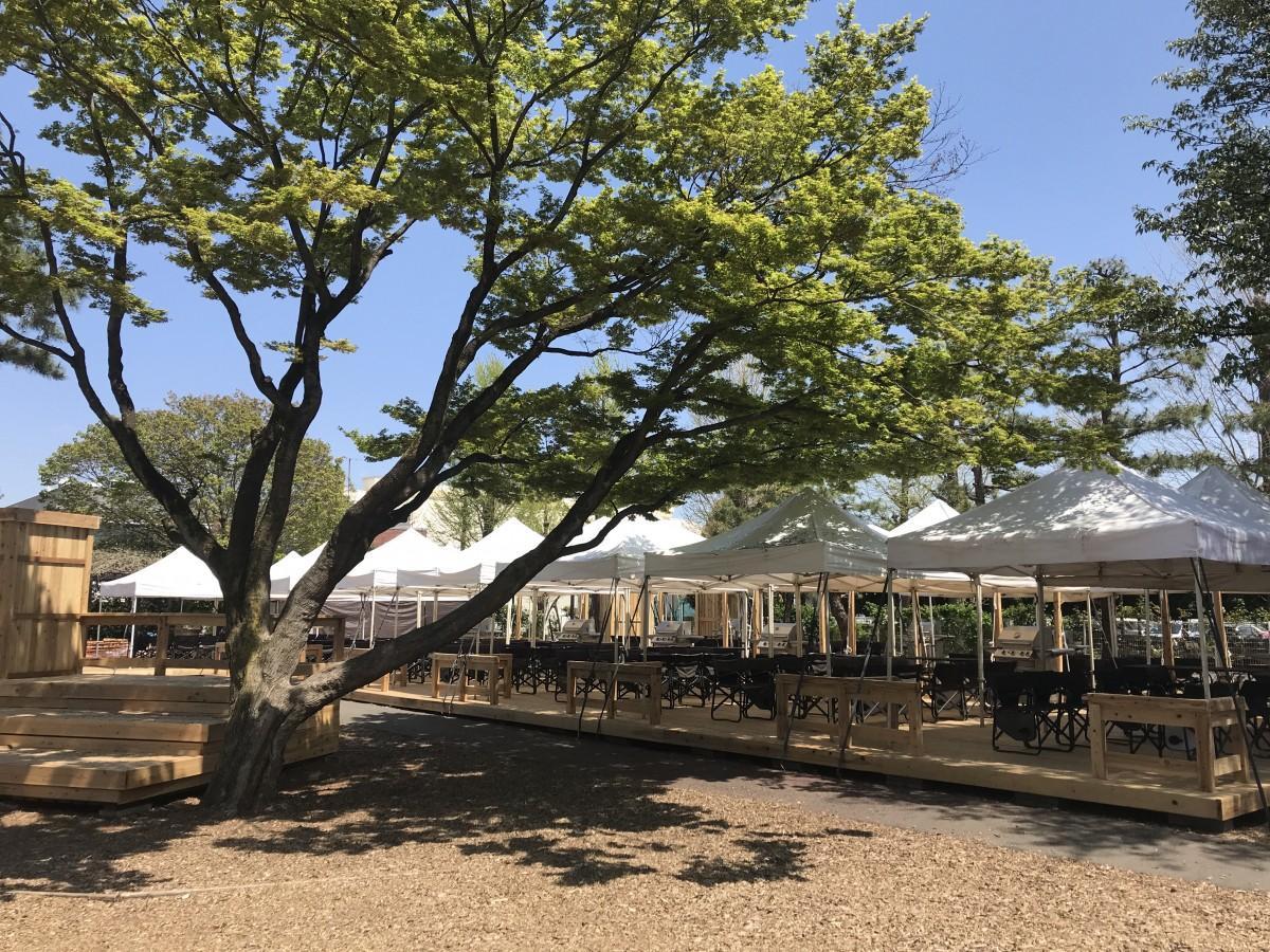 全席を屋久島の杉を使用したウッドデッキにリニューアル