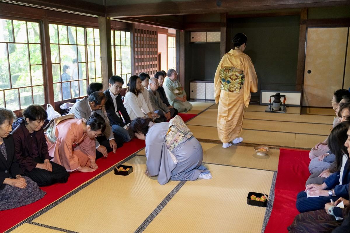 昨年の「東京大茶会」茶席の様子