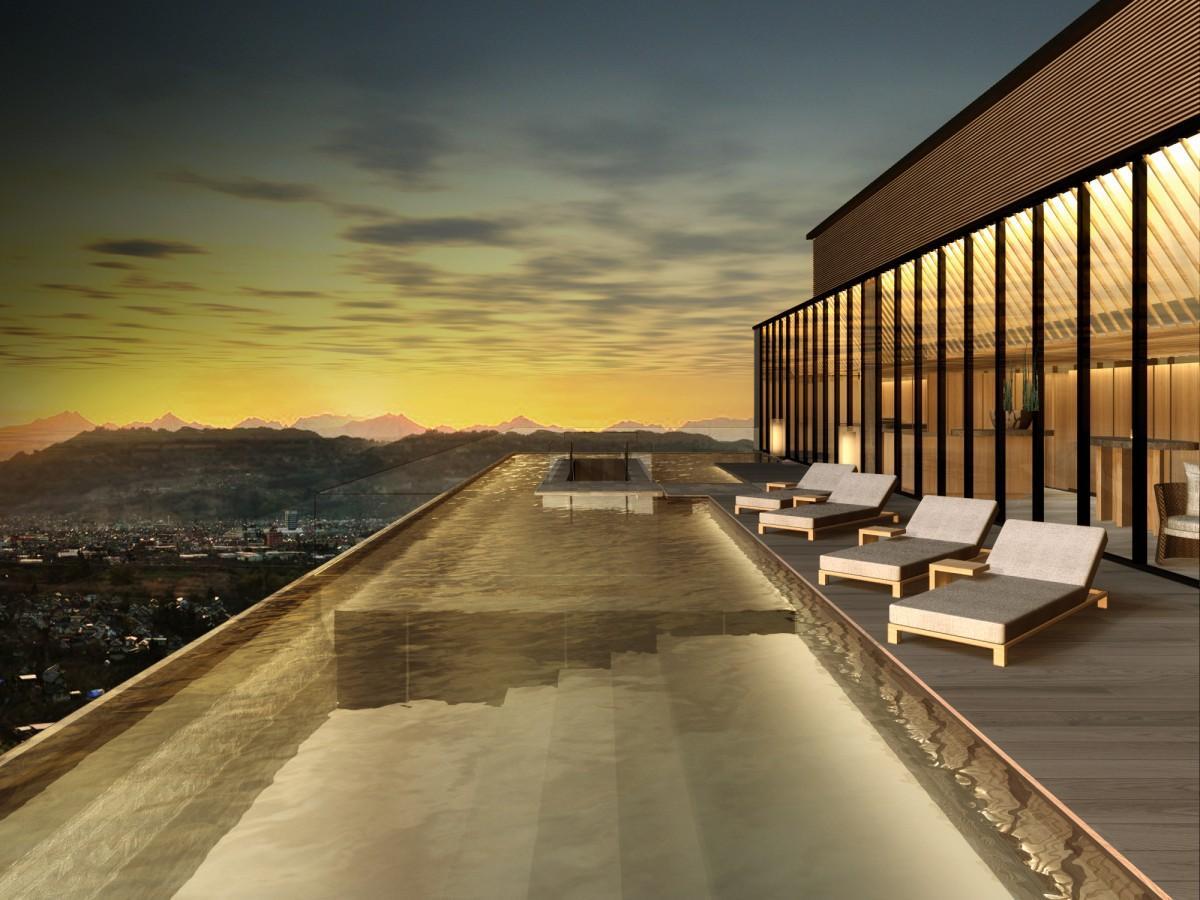 11階(屋上)のインフィニティプール イメージ&copyグエナエル・ニコラ/キュリオシティ
