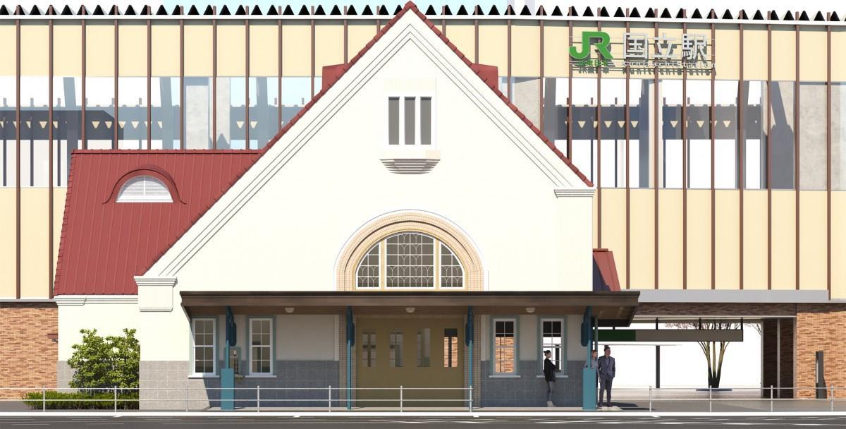 旧国立駅舎の再築イメージ 画像提供:国立市
