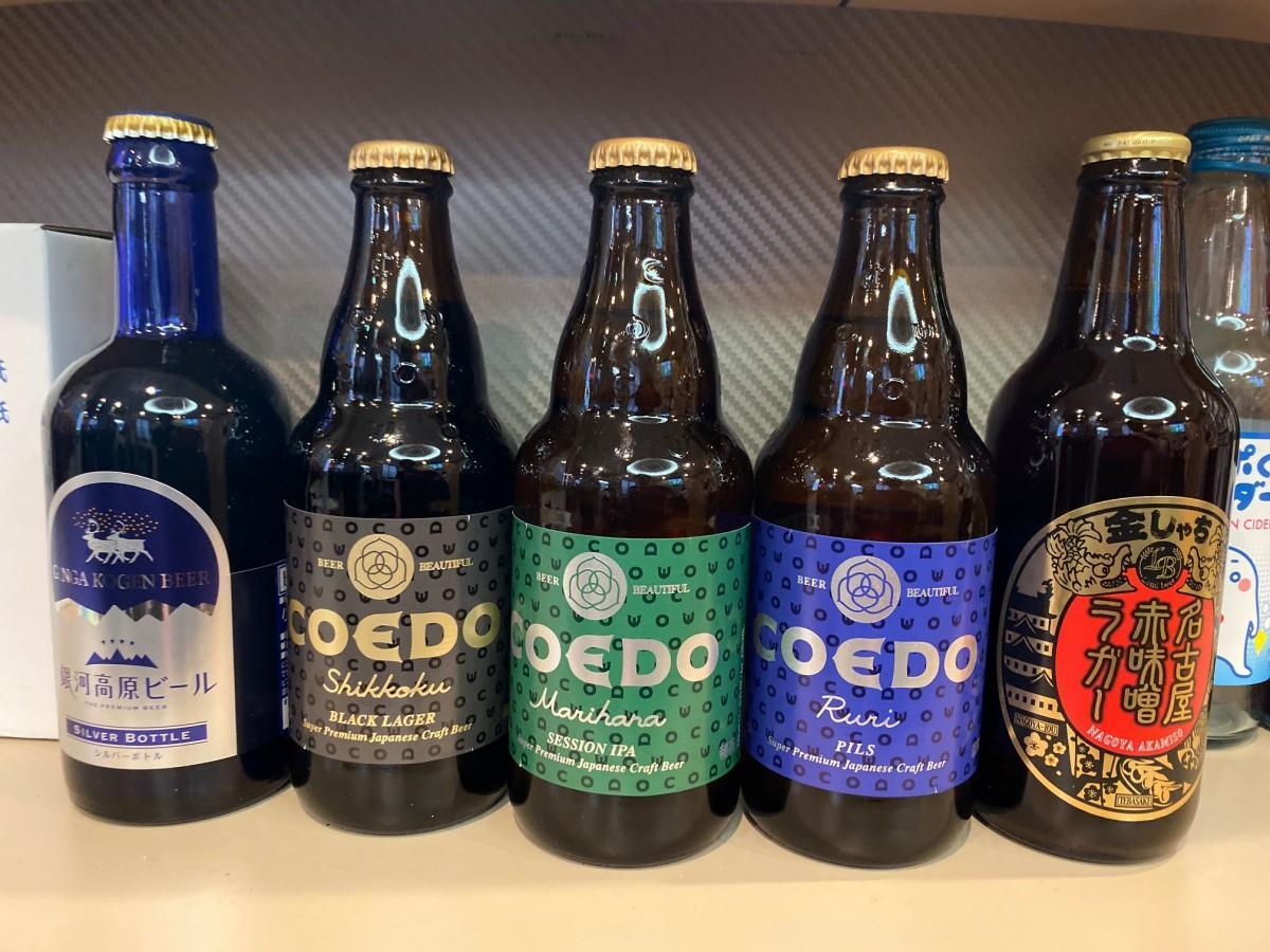 梅の湯で提供されるガラス瓶国産クラフトビール