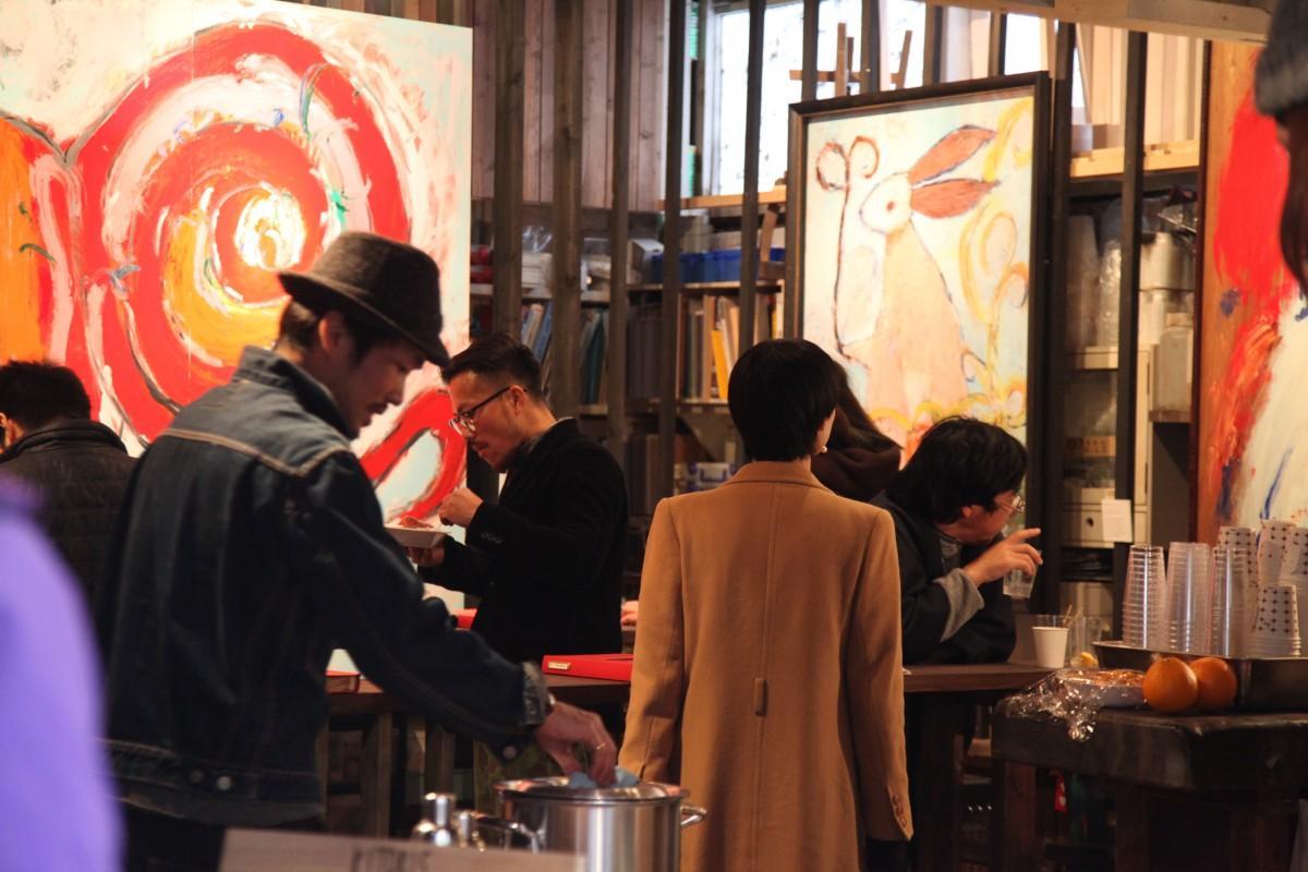石田倉庫で開催していた頃のkitoriの会場