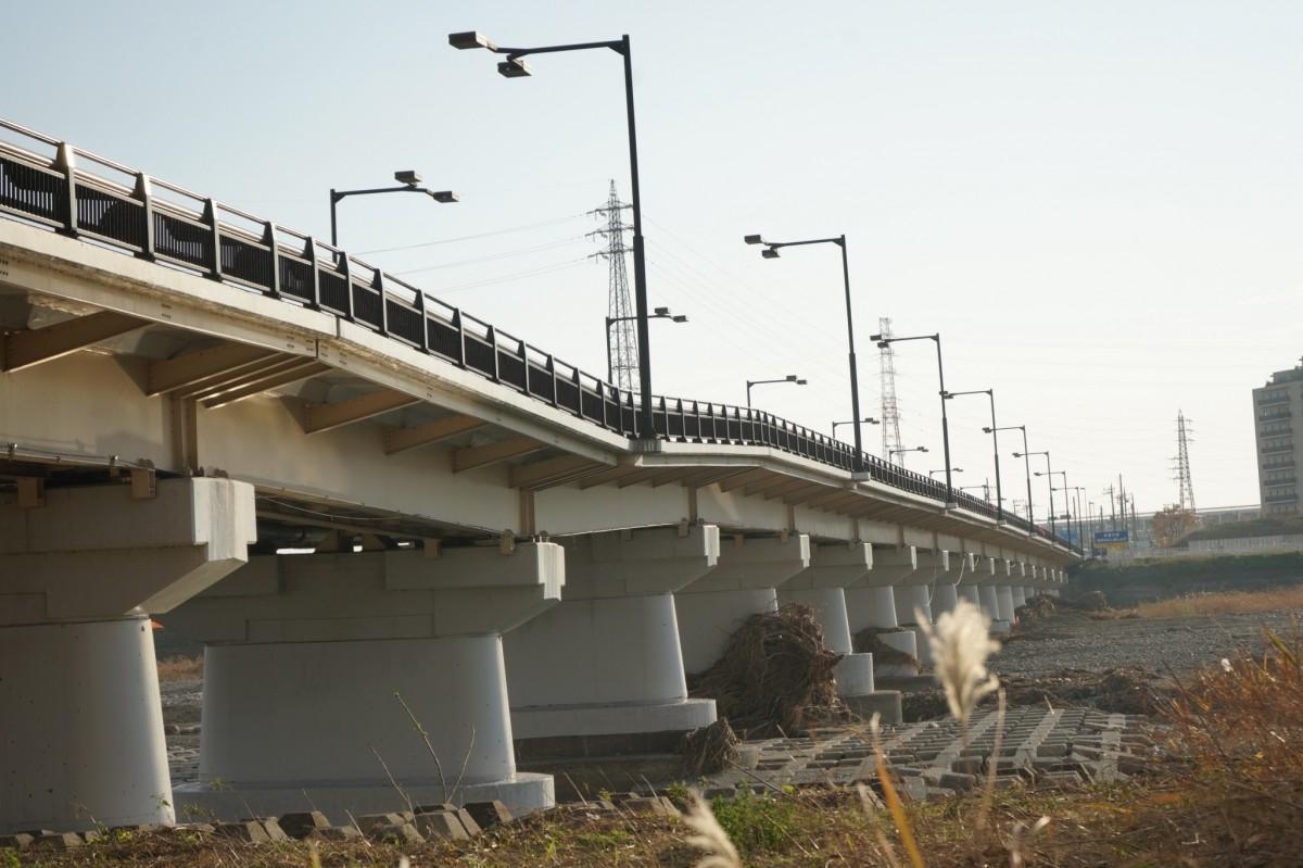 12月1日現在の日野橋の様子