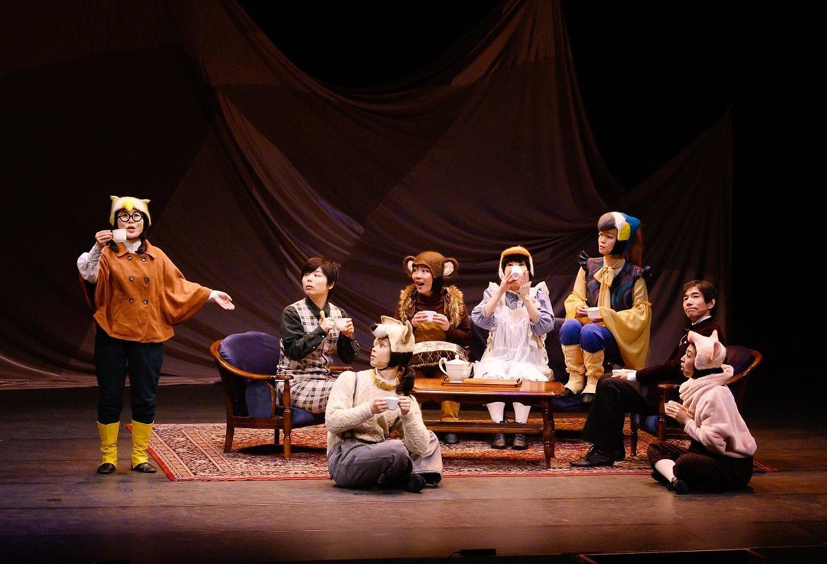 昨年の公演「ドリトル先生と動物たち、月へゆく」の舞台の様子
