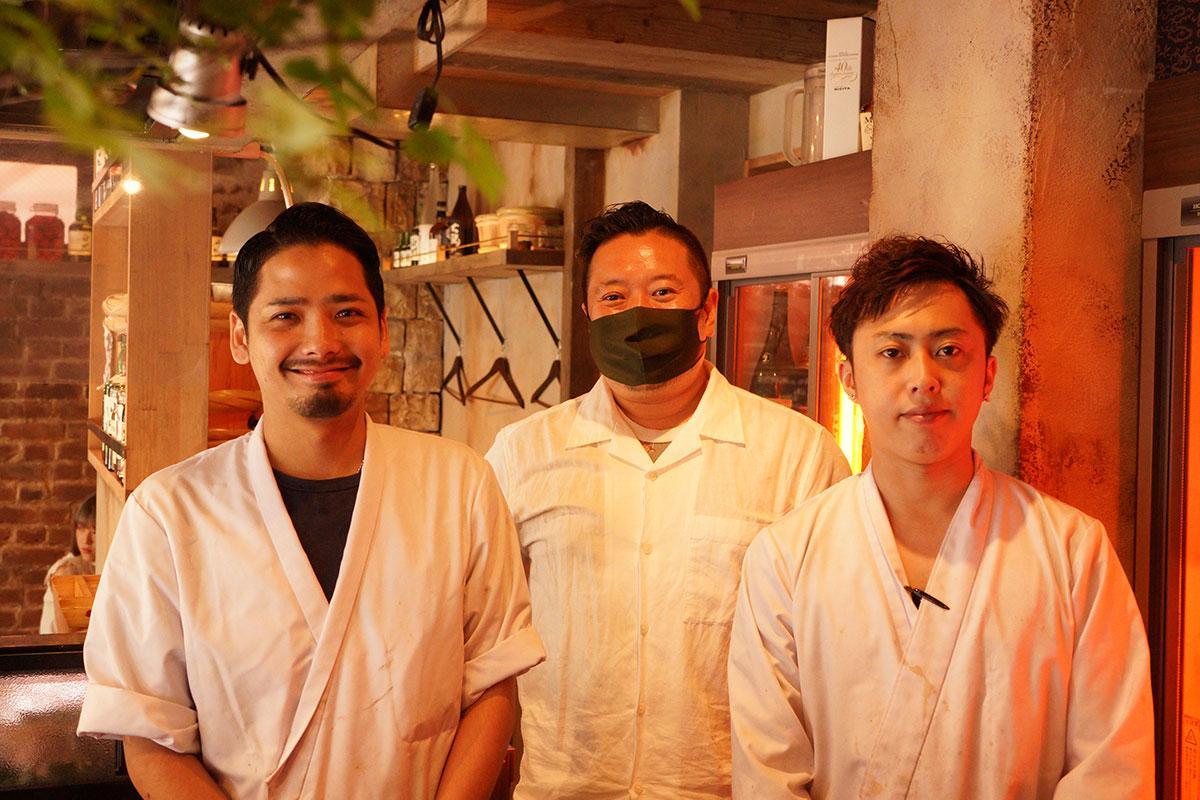 店主の後藤さんとスタッフ