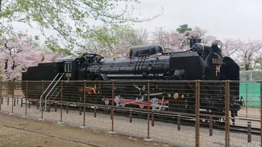 塗装・改修工事が完了した蒸気機関車D51-451号機