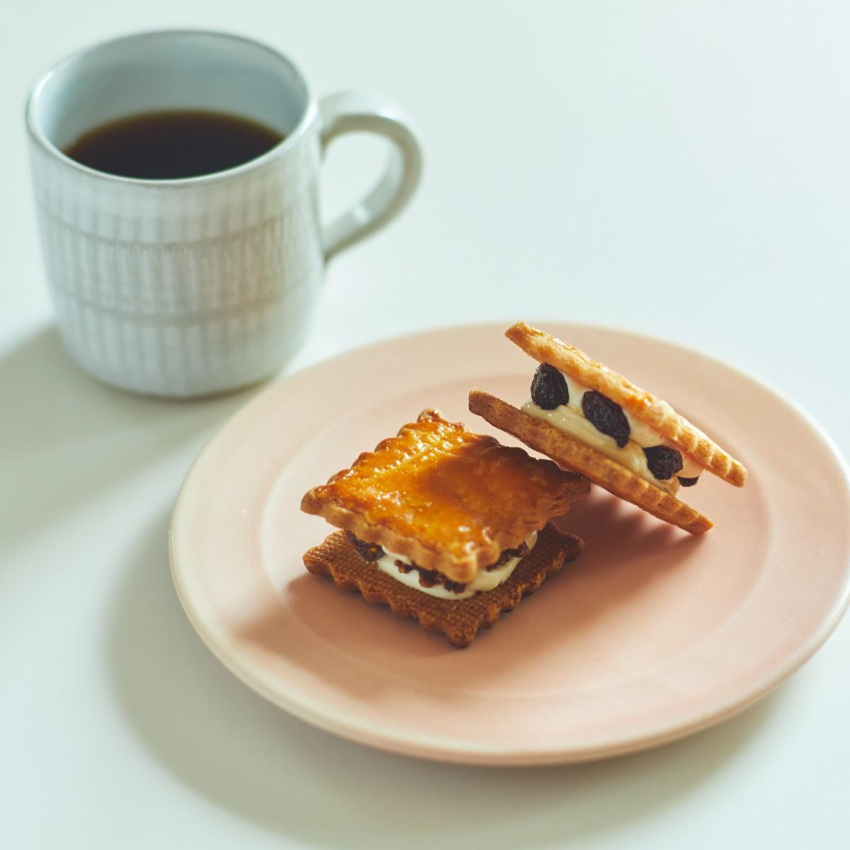 カフェ ソメイエのオーガニックレーズンとイチジクのバターサンド(撮影:吉森慎之介)